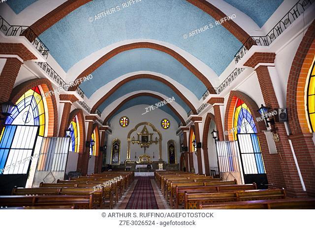 Interior of Our Lady of Refuge Church (Parroquia Nuestra Señora del Refugio), Hidalgo Park, Puerto Vallarta, Jalisco State, Mexico