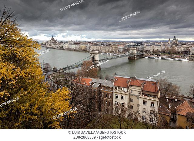 Budapest from Palace of Buda. Budapest