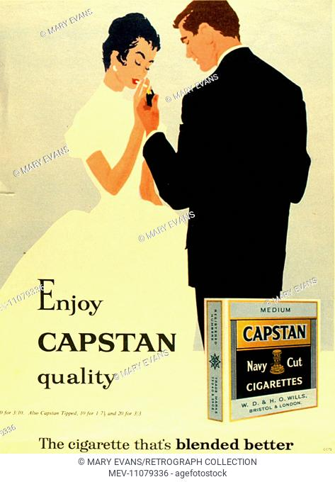 Advertisement for Capstan Navy Cut cigarettes