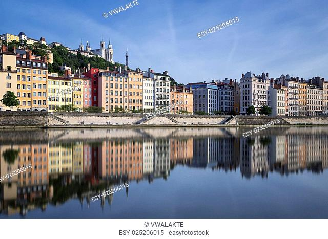 Saone river and reflection