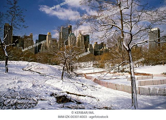 Winter at Central Park , New York City, United States, America