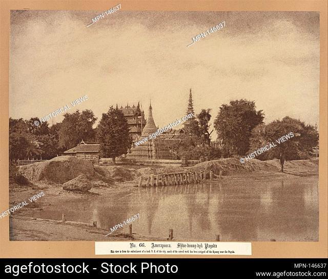 Amerapoora: Shwe-doung-dyk Pagoda. Artist: Linnaeus Tripe (British, Devonport (Plymouth Dock) 1822-1902 Devonport); Date: September 1-October 21