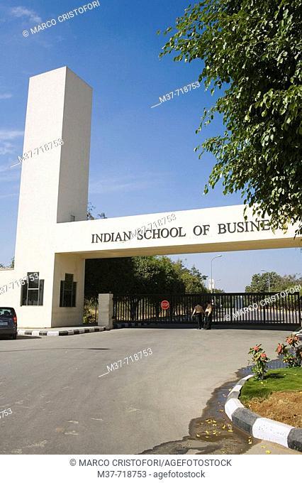 India. Hyderabad. Hi-Tech City. Indian School of Business. Main entrance