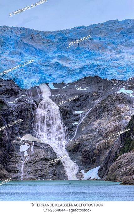 The Romanche Glacier on the Beagle Channel, Chile, South America