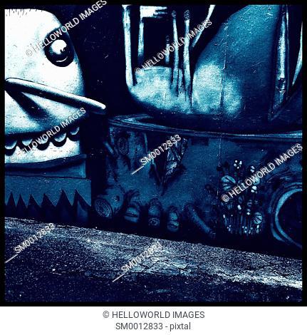 Urban Graffiti, London, England, Europe