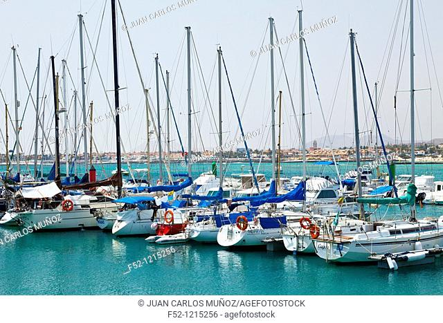 Port, Corralejo, Fuerteventura, Las Palmas, Canary Islands, Spain