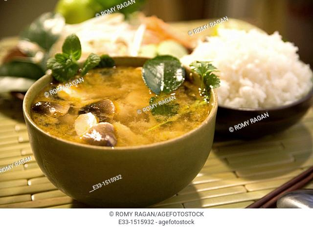 Thai cuisine: Tom yum kai - chicken hot and sour soup