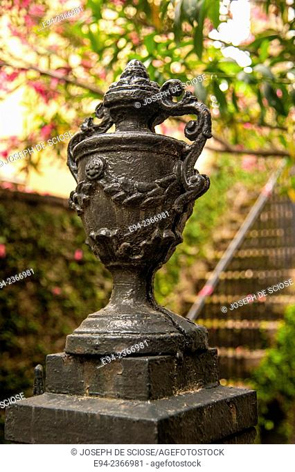Detail of a garden ornament in Charleston South Carolina