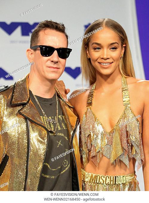 2017 MTV Video Music Awards Featuring: Jeremy Scott, Jasmine Sanders Where: Inglewood, California, United States When: 27 Aug 2017 Credit: FayesVision/WENN