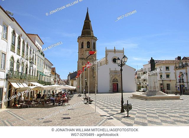 PORTUGAL Tomar -- 2015 -- The exterior of the Igreja de Sao Joao Baptista ( the Church of St John the Baptist ) near the Convento de Cristo - the one-time...