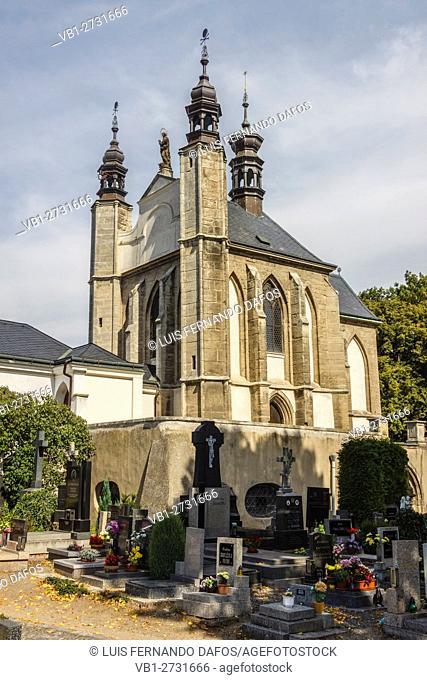 All Saints chapel and cemetery (Sedlek ossuary) Kutna Hora, Bohemia, Czech Republic
