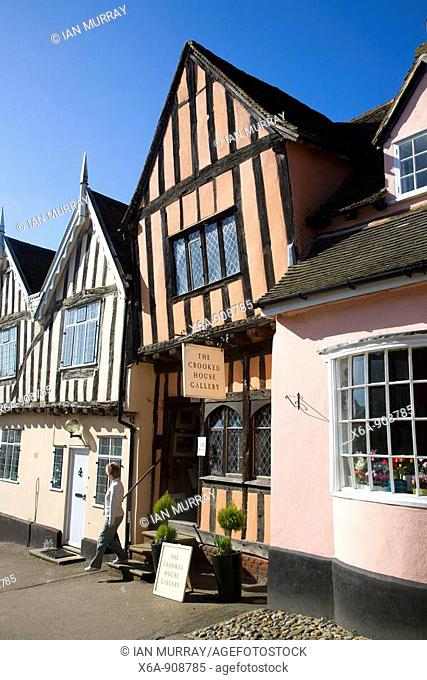 The Crooked House gallery, Lavenham, Suffolk, England