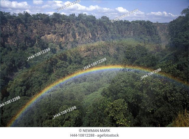 Africa, Rainbows, scenery, landscape, near Victoria Falls, wood Zambia