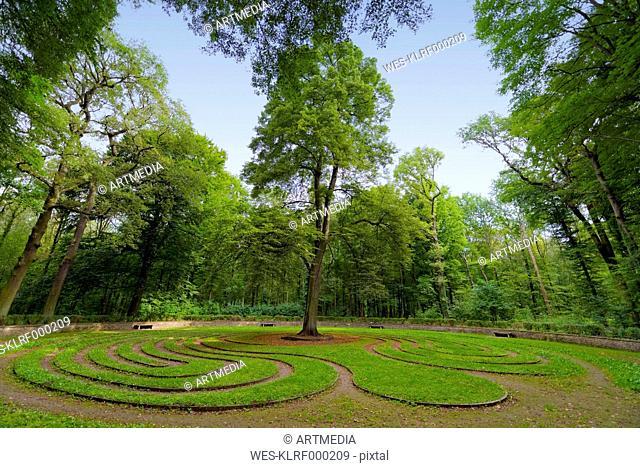 Germany, Lower Saxony, Hanover,labyrinth
