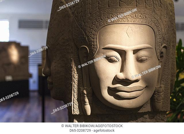 Cambodia, Siem Reap, traditional crafts for sale, reproductions of Angkor-era sculpture