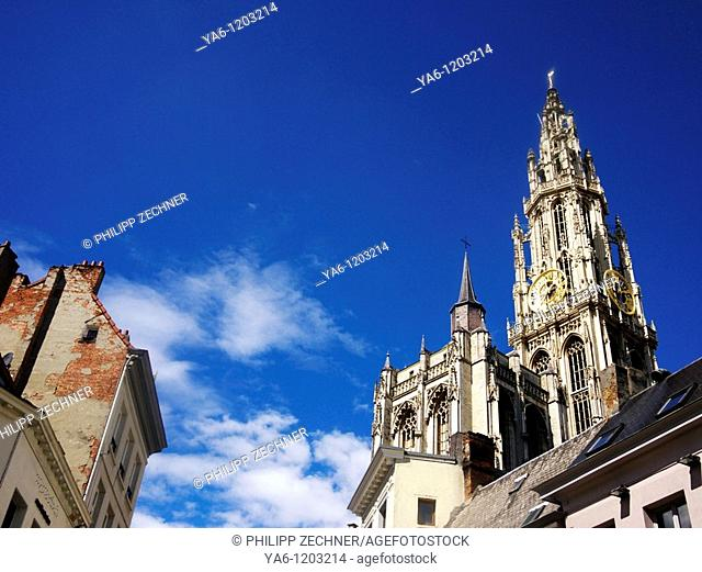 Historic cityscape with Church of Our Lady, Bruges