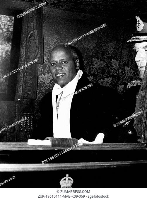 Jan. 11, 1961 - London, England, U.K. - The new Ambassador in London, HADDIS ALEMAYEHU, went to Buckingham Palace this morning to present his credentials to the...