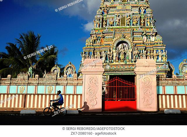 Reunion Island, View of Tamil Temple in St. Andre