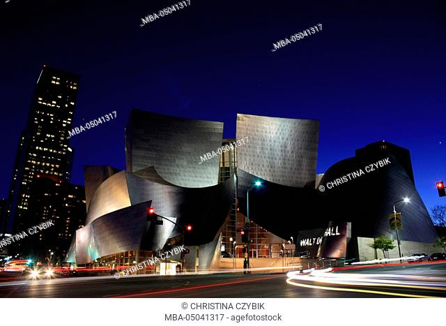 Night Photography: Walt Disney Hall in Downtown Los Angeles