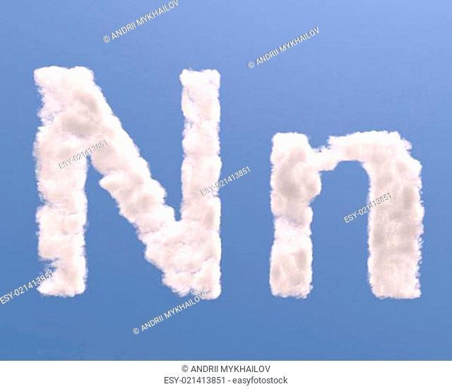 Letter N cloud shape