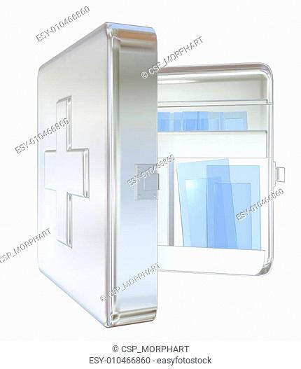 Medicine cabinet, 3D illustration