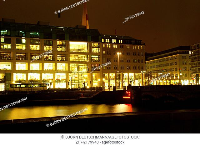 The store Europa Passage at Hamburg next to the Alster