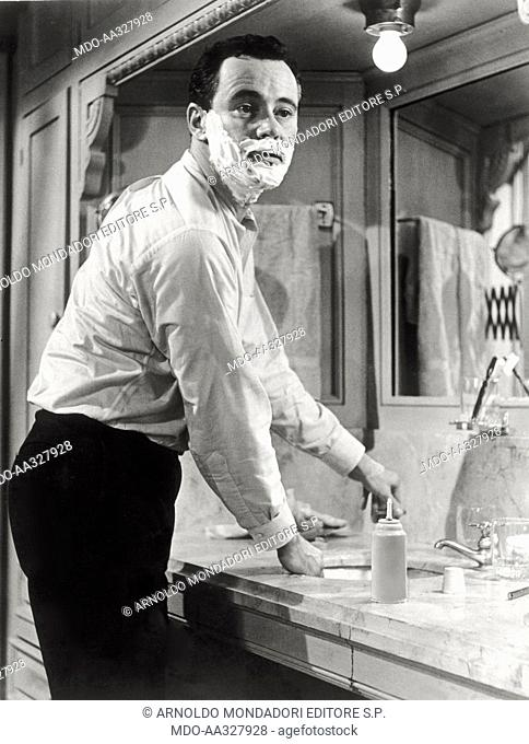 Jack Lemmon in the film 'The apartment'. The US actor Jack Lemmon in a scene of the film 'The apartement'. United States in 1960