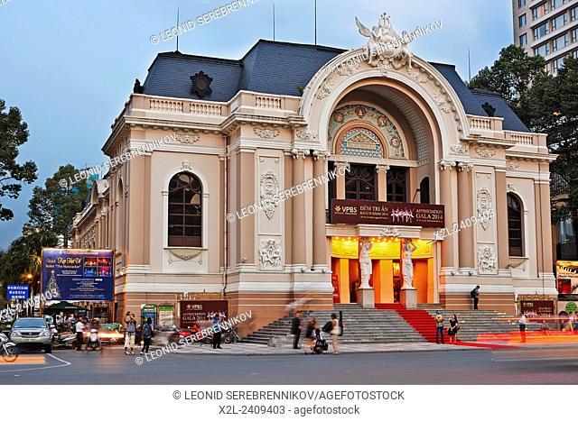 Municipal Theater (Saigon Opera House). Ho Chi Minh City, Vietnam
