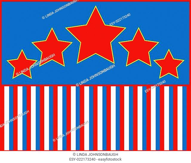 Red White Blue Star Striped Background