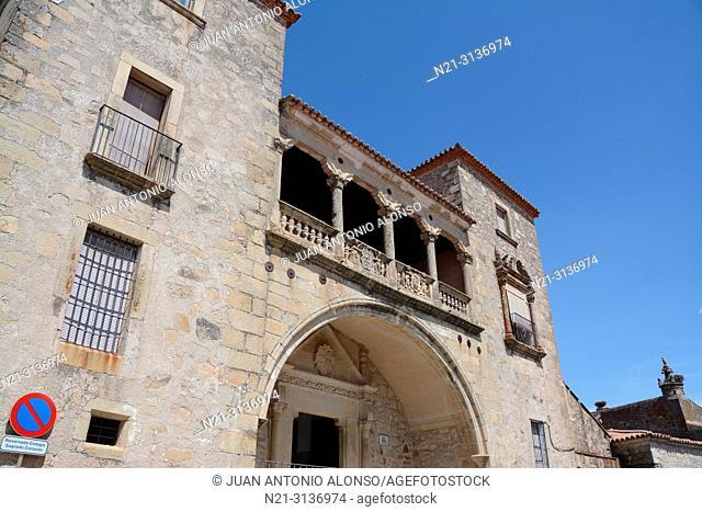 Juan Orellana Pizarro Palace. Trujillo, Caceres, Extremadura, Spain, Europe