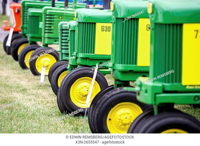 Farming equipment on display at Ag Progress Day 2015 in State College, Pennsylvania