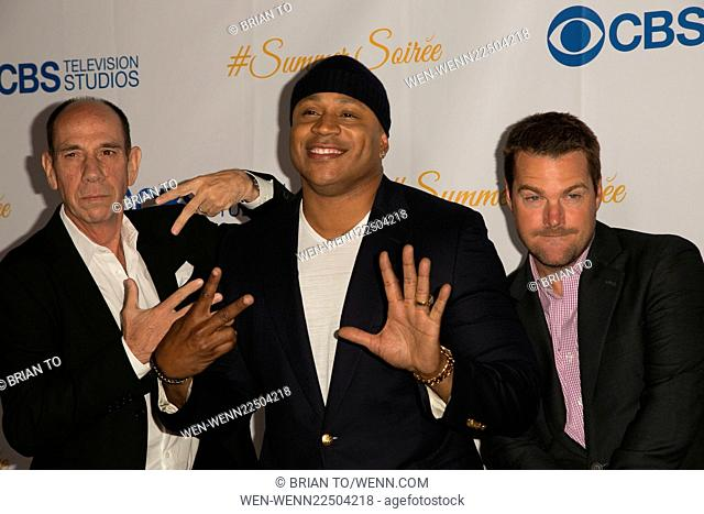 Celebrities attend the 3rd Annual CBS Television Studios Rooftop Summer Soiree at The London Hotel. Featuring: Miguel Ferrer, LL Cool J