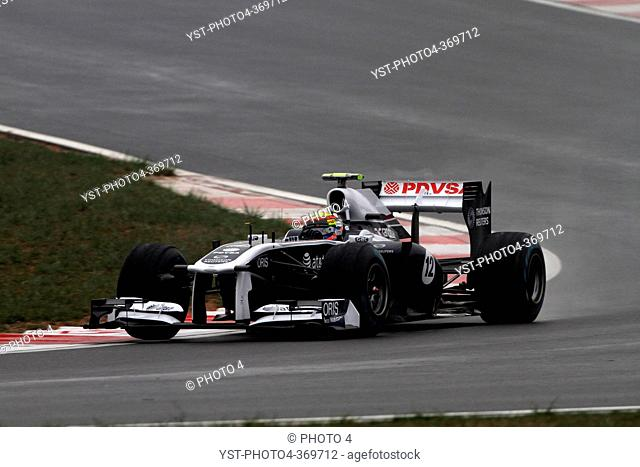Friday Practice 2, Pastor Maldonado VEN, Williams FW33, F1, Korean Grand Prix, Yeongam, Korean