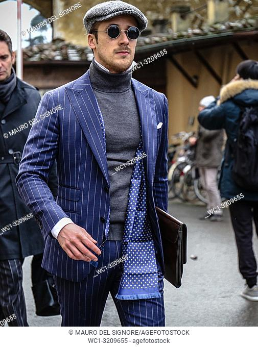 FLORENCE, Italy- January 9 2018: Johannes Laschet on the street during the Pitti 93