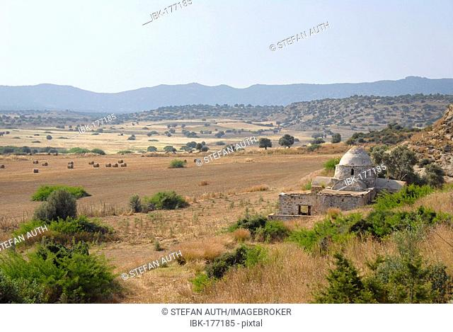 Early Christian church Panagia tis Kyras in a field near Sazlikoey Livadia North Cyprus