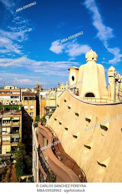 Barcelona, Casa Mila, Gaudi