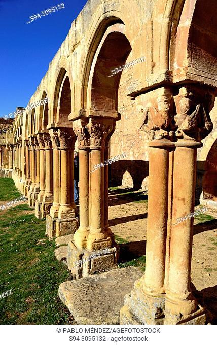 Cloisters of San Juan de Duero in Soria city, Spain