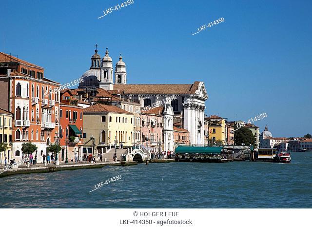 Canale della Guidecca and Chiesa D. Gesuati church, Venice, Veneto, Italy, Europe