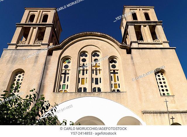 The Cathedral of Agios Kirykos, Ikaria island, North Aegean islands, Greece, Europe