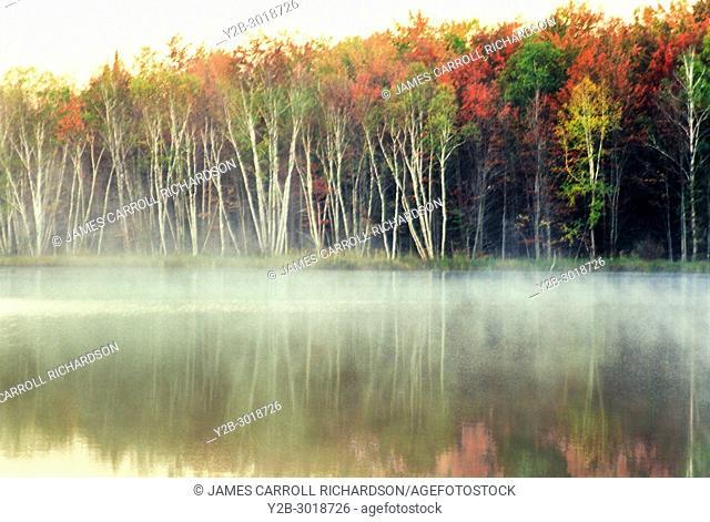 Lake Thornton in Michigan's Upper Peninsula in autumn