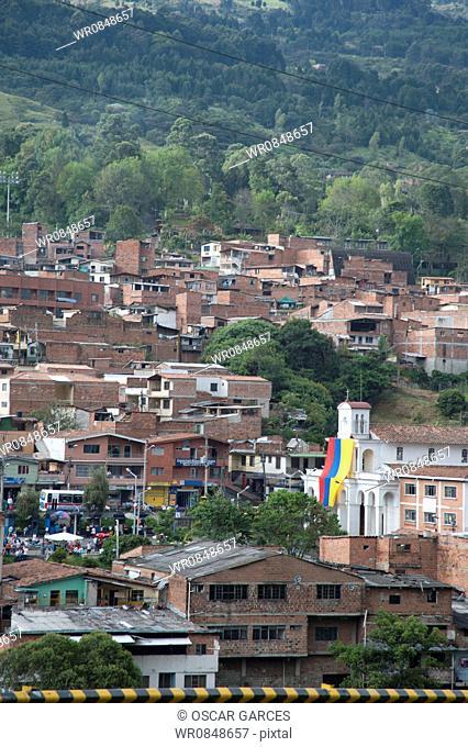 Panoramic of San Cristobal, Medellin, Antioquia, Colombia