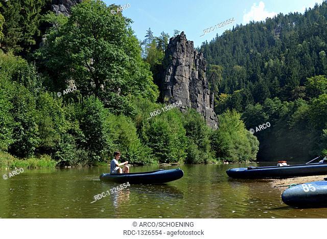 Hans-Heiling-Felsen, Fluss Eger, Tschechien