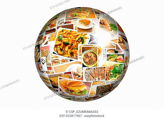 World Cuisine Collage Globe