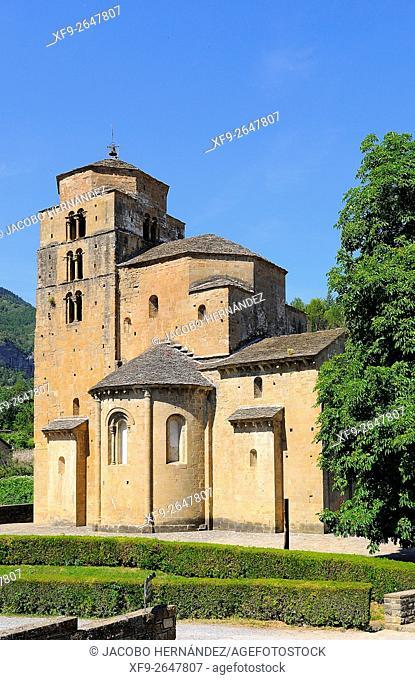 Romanesque church of Santa María in Santa Cruz de la Serós.Huesca province.Aragón.Spain