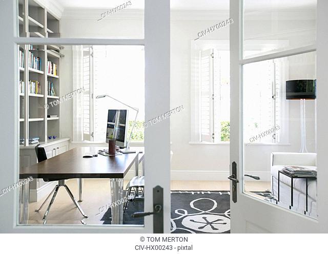 Doorway to luxury home office