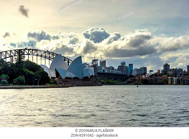 View on Sydney Opera and harbour bridge at day time