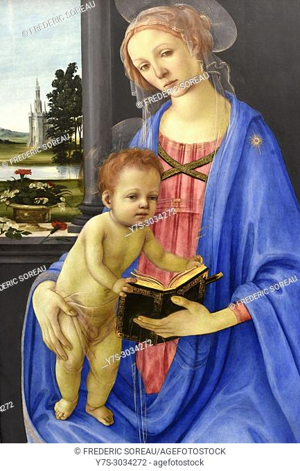 Madonna and Child , Fra Filippino Lippi, Gemaldegalerie, Berlin, Germany