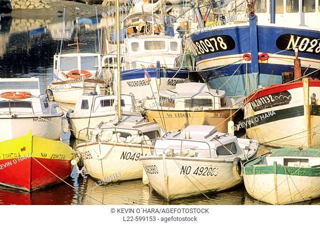 L'Étier du Moulin. Noirmoutier-en-l'Île city. Island of Noirmoutier.Atlantic coast. Vendée province. France