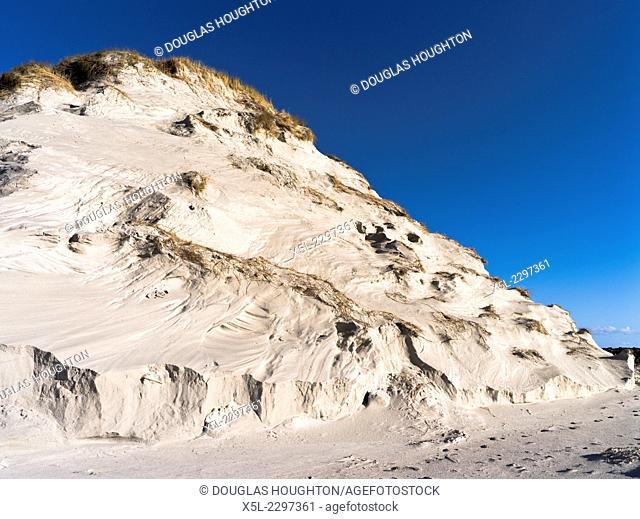 SANDAY ORKNEY Sand dunes marram grass