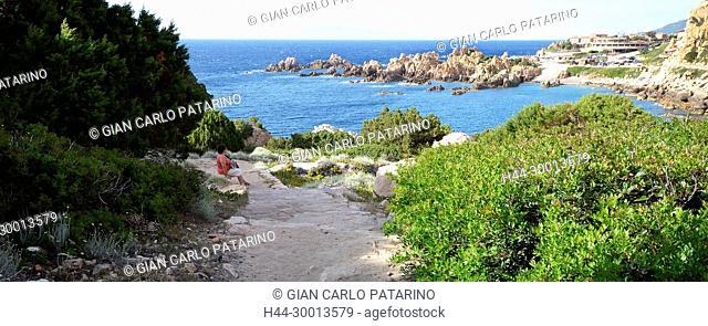 Sardinia, Italy rocks in Costa Paradiso